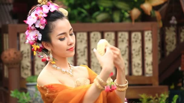 Beautiful Thai Woman In Traditional Costume Of Thailand