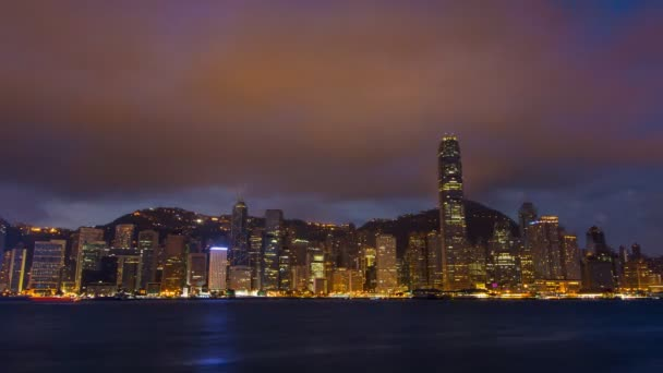 Time Lapse Hong Kong Cityscape Night To Day