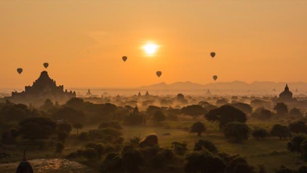 Balloons Over Ancient Empire Bagan Of Myanmar (Burma)
