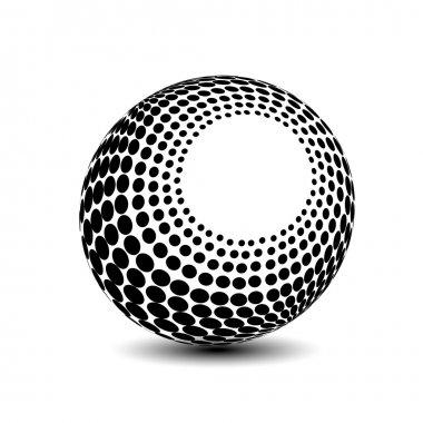 3d globe symbol