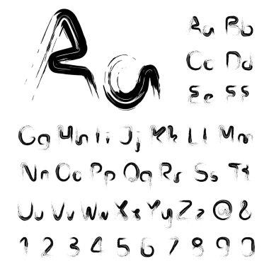 own font alphabet