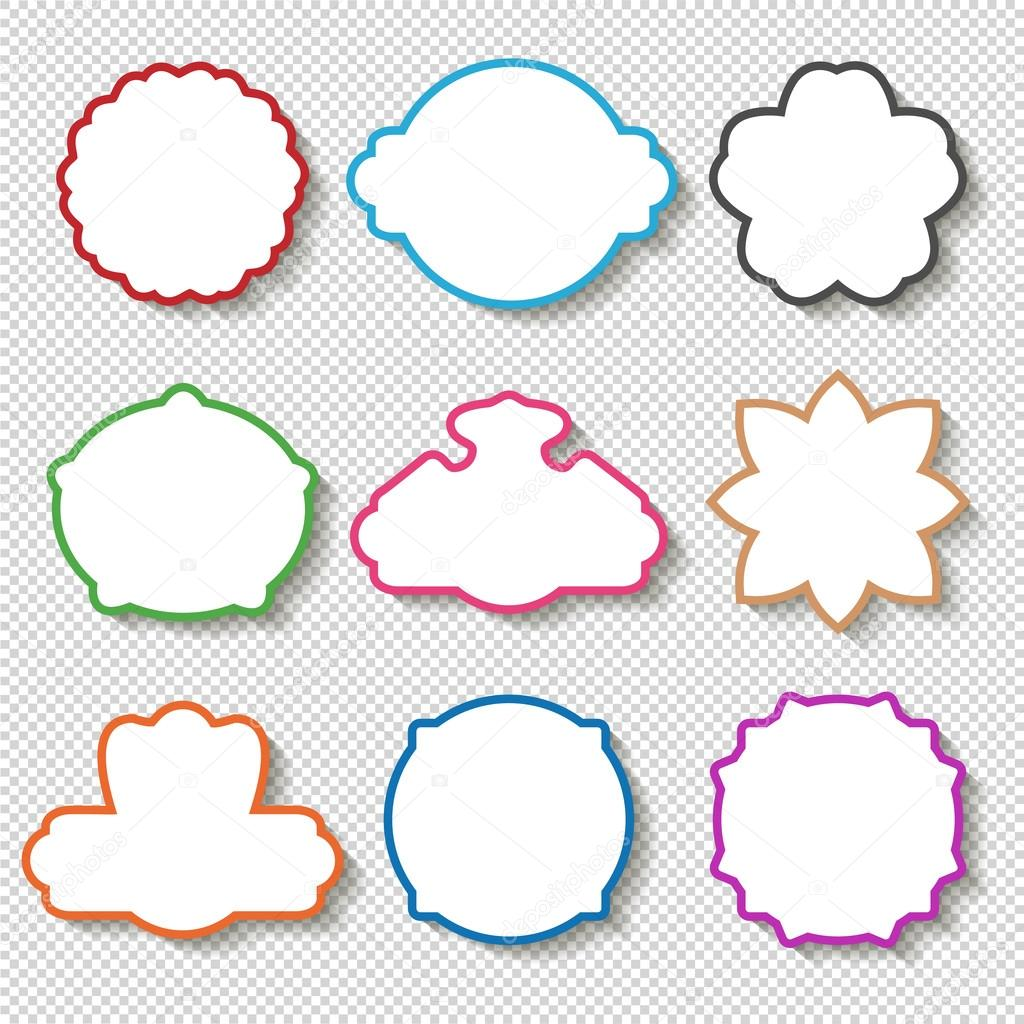 weißer Rahmen mit Farbe Grenzen — Stockvektor © Rena_Design #124412390