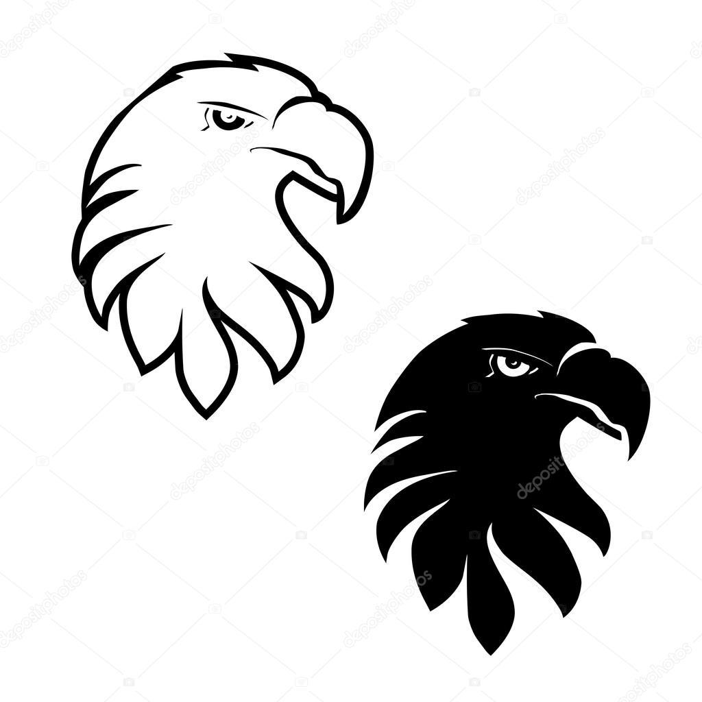 Cara De Aguila Para Colorear Conjunto De Cabezas De águila