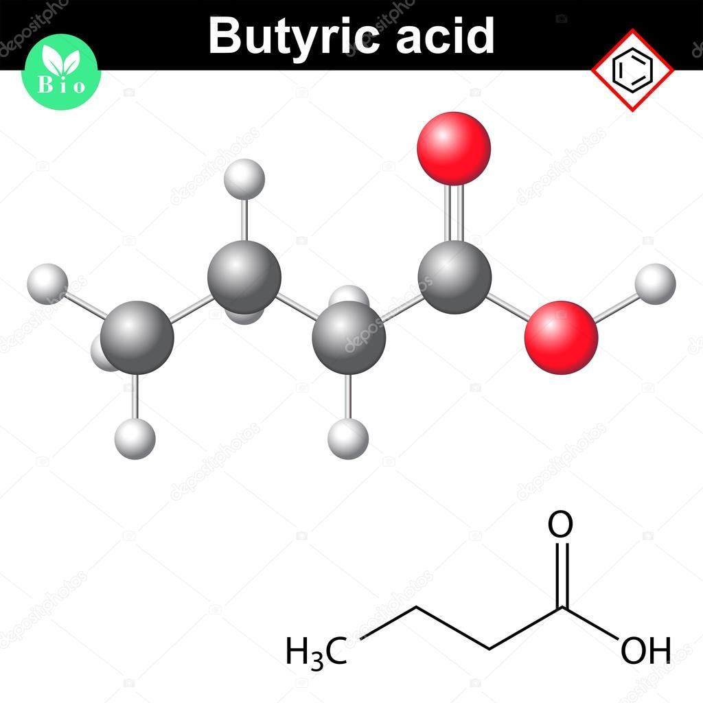 Resultado de imagem para Ácido butanoico