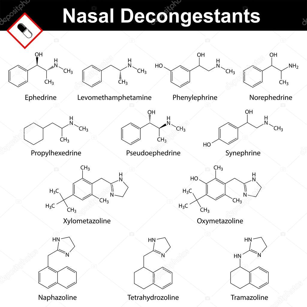 Nasal decongestant agents — Stock Vector © logos2012 #80909602