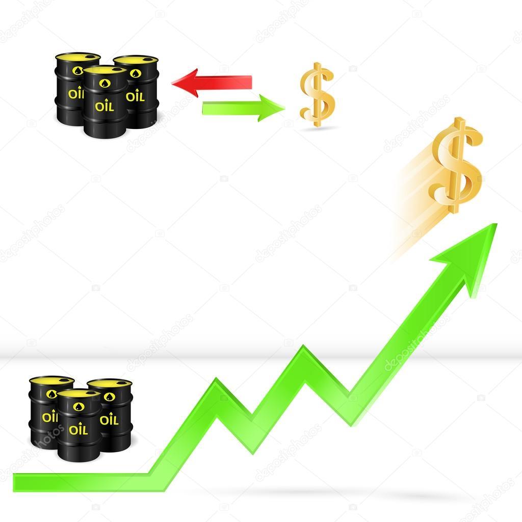 Oil Price Up Oil Vs Dollar Exchange Stock Vector Logos2012