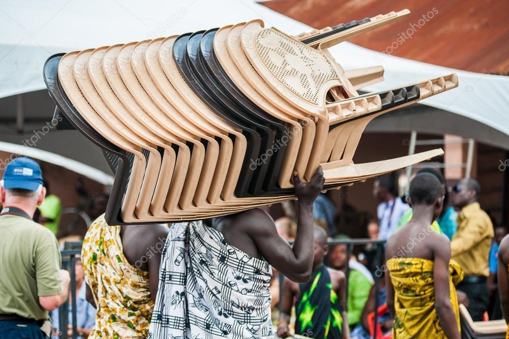 Real people in Ghana, Africa