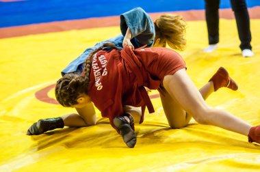 Girls compete in Sambo