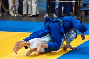 Judo competitions among boys, Orenburg, Russia