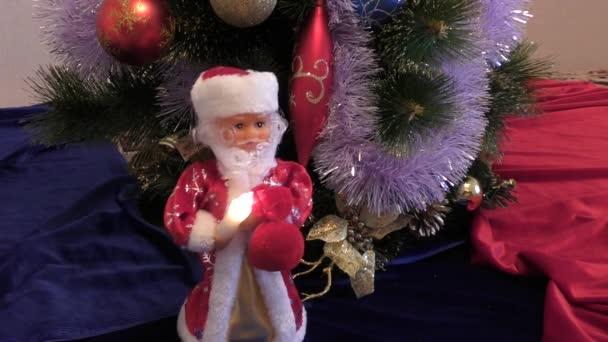 Santa Claus at Christmas trees
