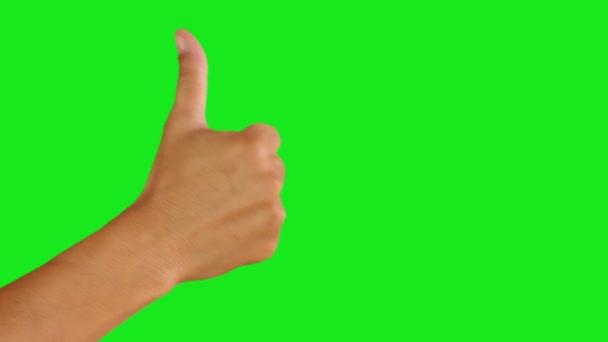 A zöld képernyő háttér remek kéz