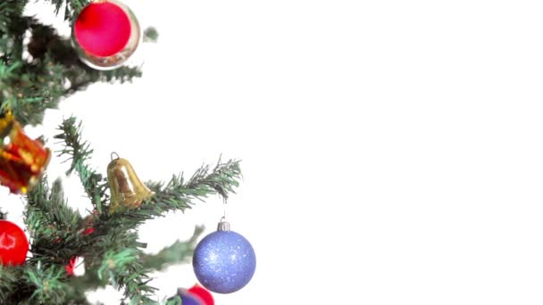 Veselé Vánoce. Strom s Vánoční dekorace a ozdoby