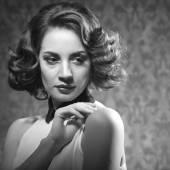 Fotografie sinnliche Frau Vintage retro Stil