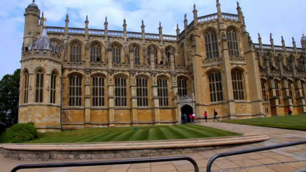 General View on Courtyard of Windsor Castle With St. George Chapel
