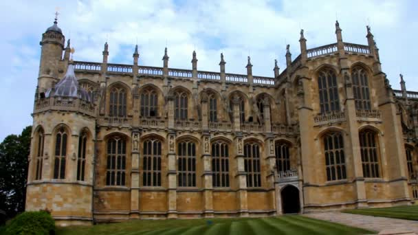 St. George Chapel at Summer Cloudy Day. Medieval Windsor Castle.