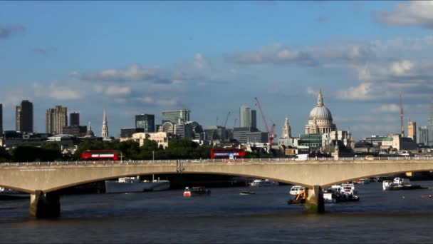 City of London in Late Afternoon Light From Hungerford Bridge