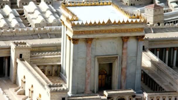 Modell des zweiten Tempels. jerusalem. Kamera zoomt heraus