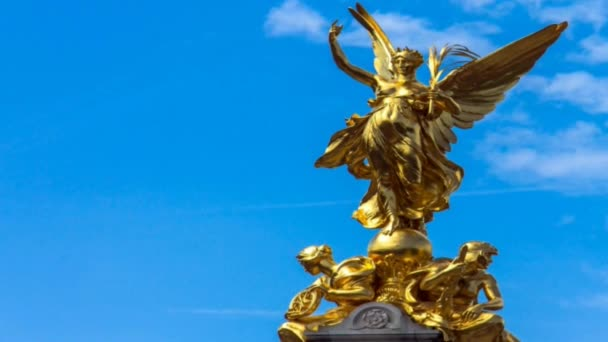Nike (Goddess of Victory) Statue on the Victoria Monument Memorial Outside  Buckingham Palace,