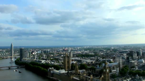 Cityscape From London Eye With Houses of Parliament and Big Ben. London