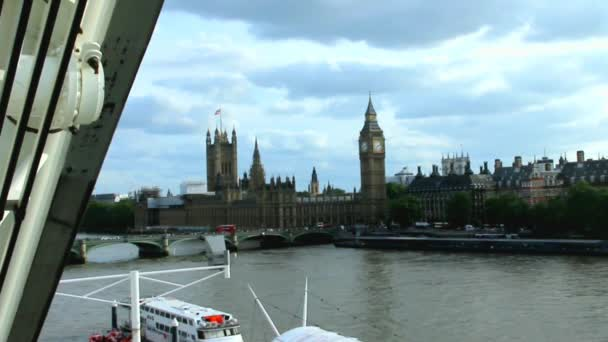 Cityscape From London Eye With Houses of Parliament. London. Slow Motion Video