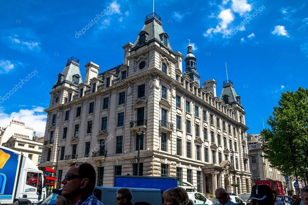 Beautiful Exterior Of Old Buildings In Central London At Summer Day Time Stock Photo