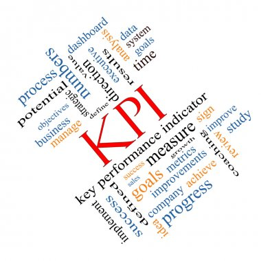 KPI Word Cloud Concept Angled