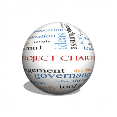 Project Charter 3D sphere Word Cloud Concept