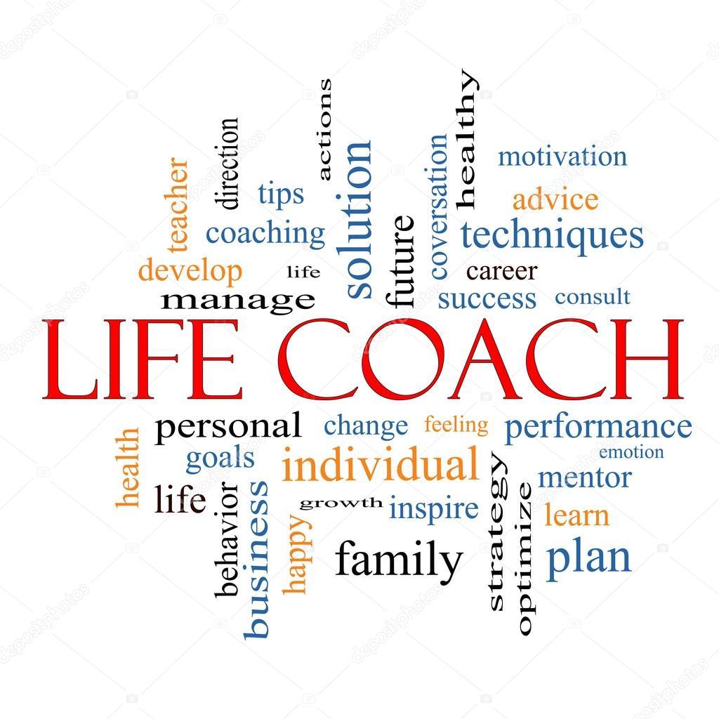 Life Coach Word Cloud Concept