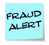 Podvod upozornění modrý lístek s poznámkou