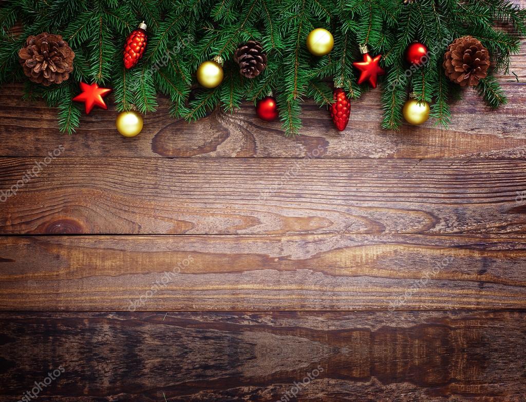 Decorazioni In Legno Natalizie : Decorazione di natale sopra fondo di legno decorazioni vintage