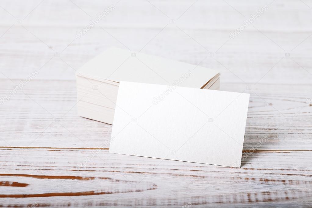 Dicke Weiße Baumwolle Papier Visitenkarte Stockfoto