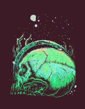 Skull Underwater