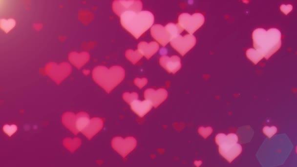 Valentin-nap absztrakt rózsaszín háttér, repülő, szív