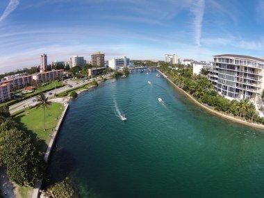Aerial view of waterways in Florida
