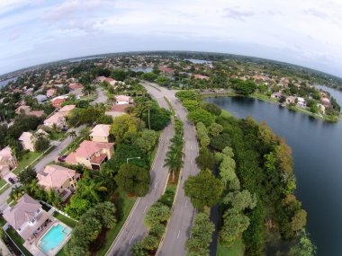 Florida homes seen from above