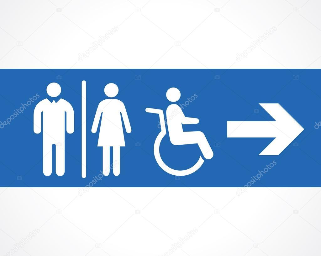 icono de baño de letrero de baños — vector de stock © vilisov