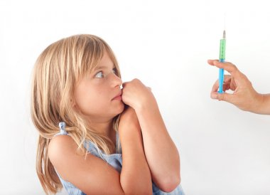 girl afraid of injection