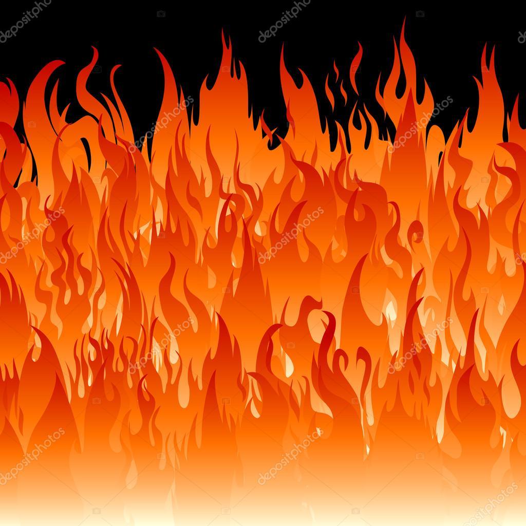 Fire flames wallpaper — Stock Vector © PavelTalashov 117323736