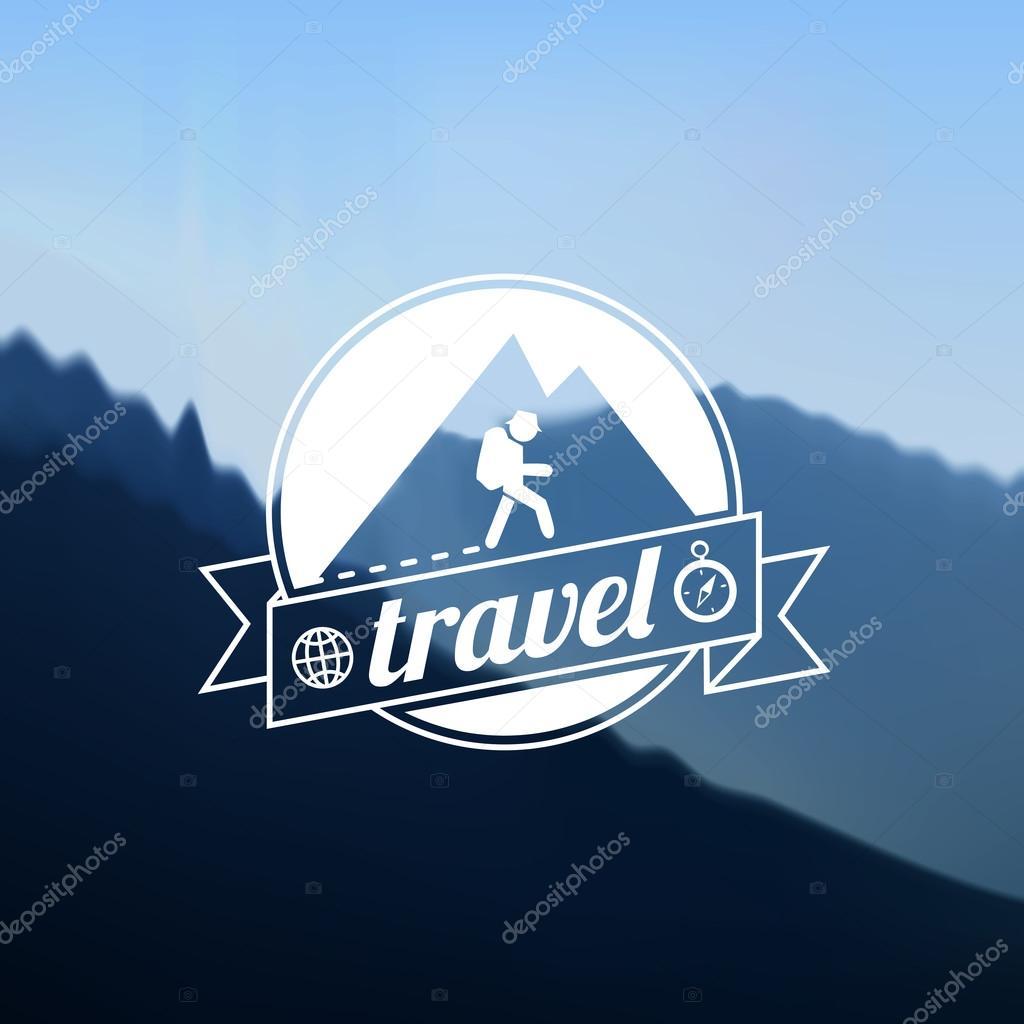 Tourism travel logo design