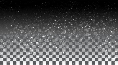 Falling snow on a transparent background. Vector special effects on a transparent background stock vector