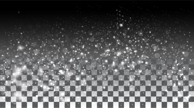 Falling snow on a transparent background. Vector special effects on a transparent background clip art vector