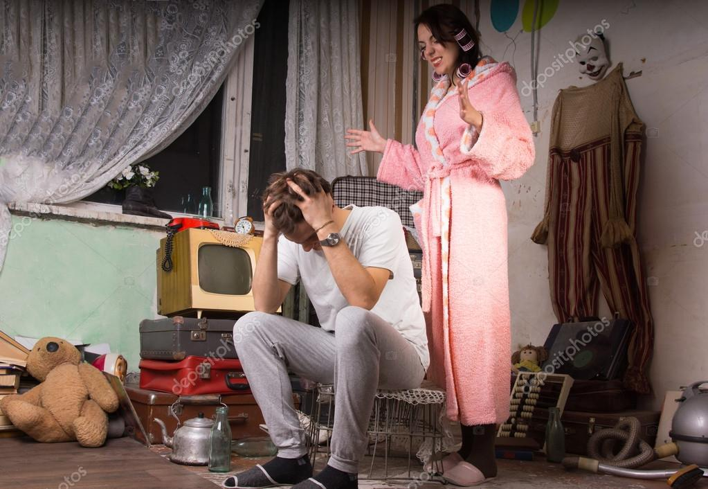 Woman nagging her husband