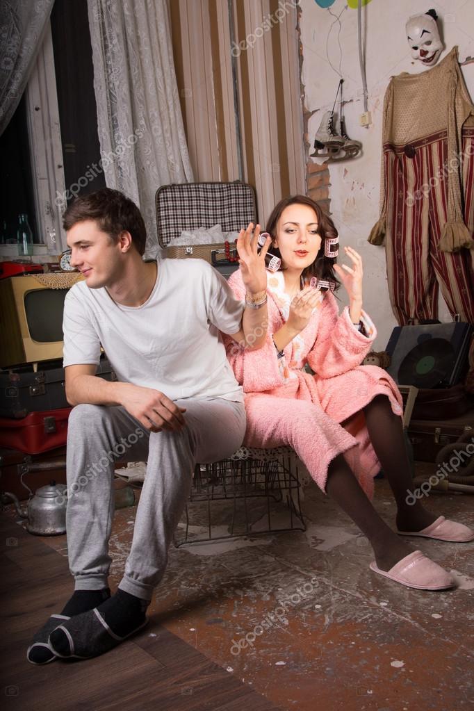 Man Refusing to Listen his Partner at Junk Room