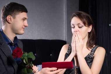 Overwhelmed Lady Receives Presents from her Man