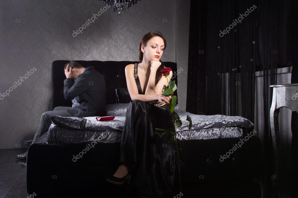 Young Couple Fighting While at the Bedroom