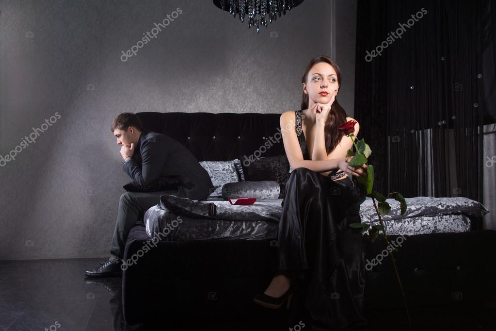 Lovers Fighting for Something While at the Bedroom