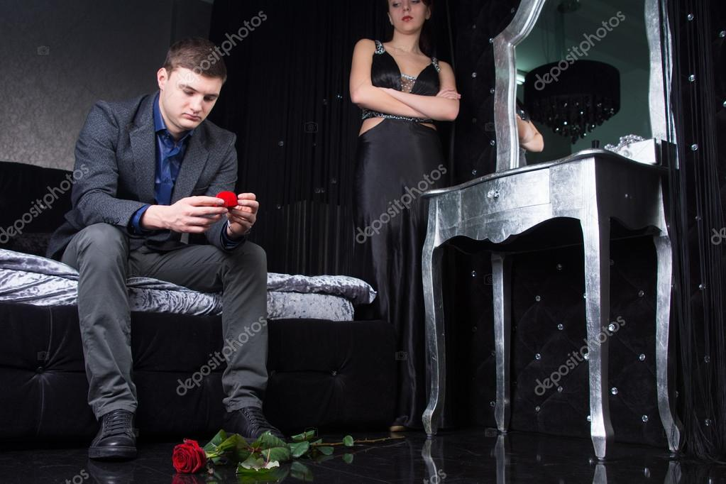 Dejected young man after being rejected