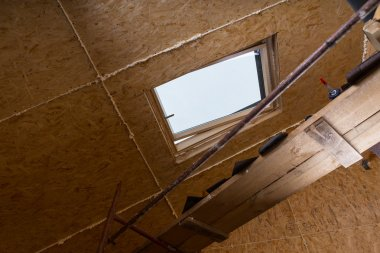 Sky Light in Ceiling of Unfinished Home