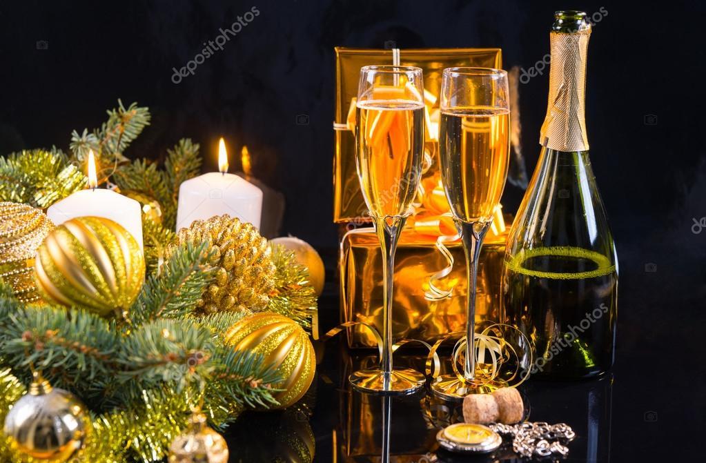 Luxus gold Themen Weihnachten Hintergrund — Stockfoto © Vaicheslav ...