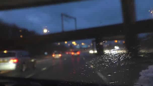 Abstraktní jízdy dálnice ošklivá plískanice fokusu okna